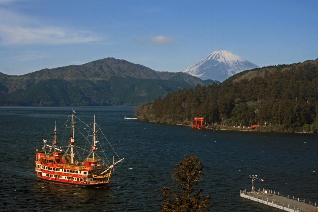 芦ノ湖の富士-1-16.01