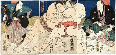 大相撲錦絵