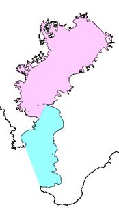 東京湾と浦賀水道(図示)