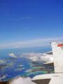 慶良間諸島(飛行機から)-1-16.06