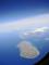 沖縄本島北部の属島(飛行機から)-1-16.06