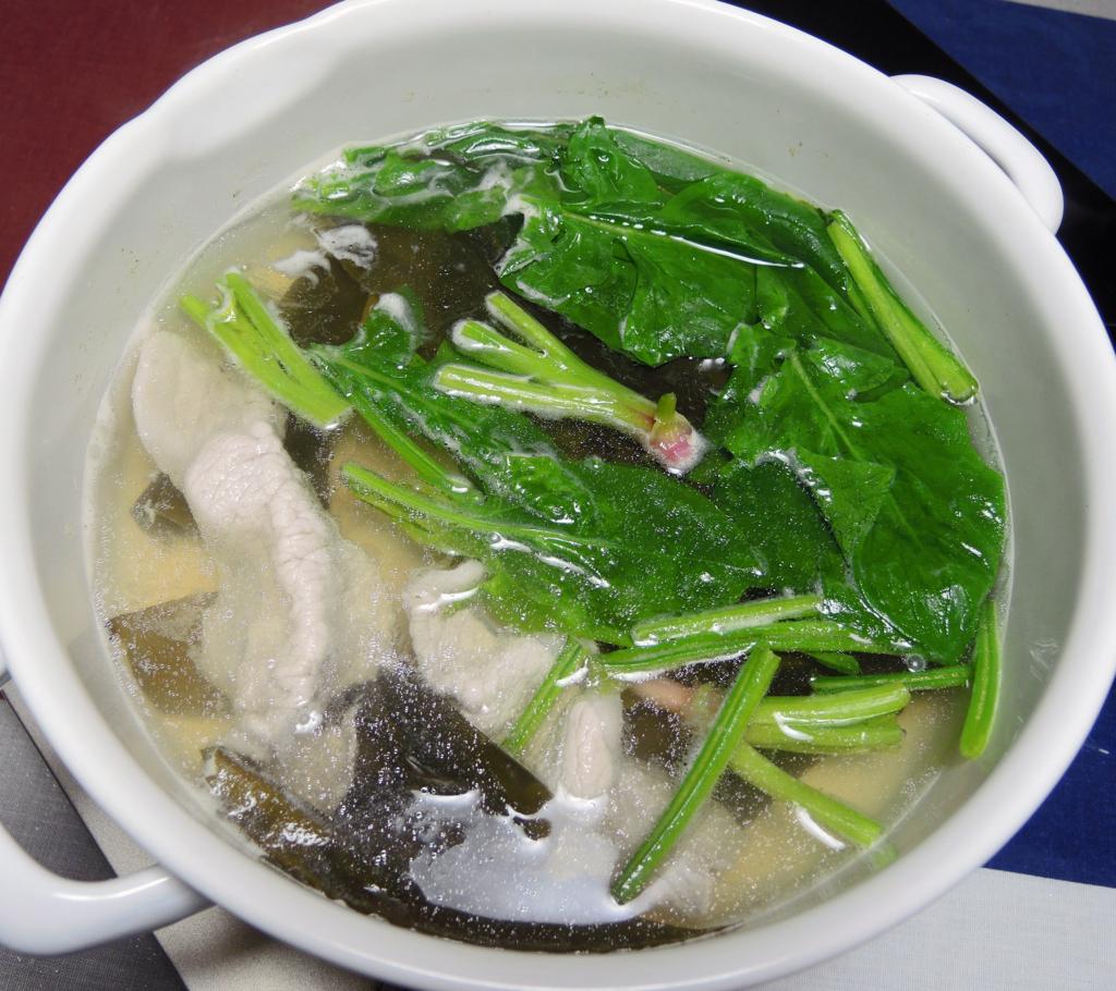 ほうれん草鍋(わが家)-1-18.03