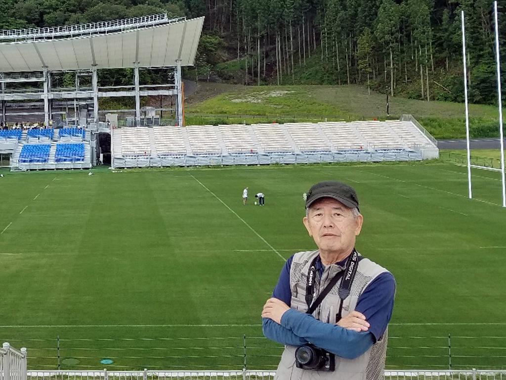 釜石復興スタジアムにて