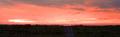朝焼け、鳥の海(亘理町)-1-18.09