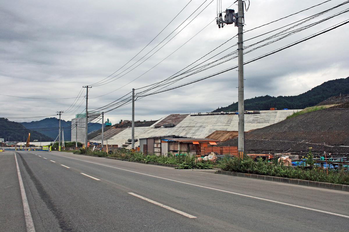 赤浜の防潮堤工事(大槌町)-1-18.09