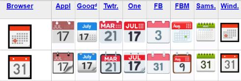 絵文字「カレンダー」