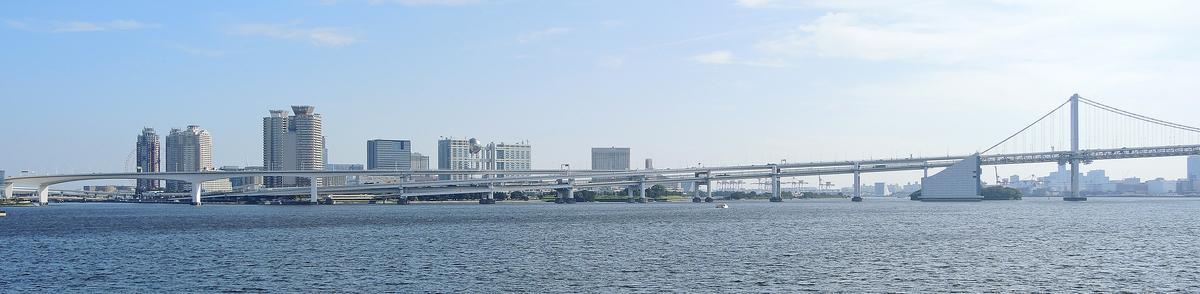 晴海客船ターミナルからレインボーブリッジ(中央区)-1-19.07