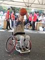 2020東京パラ、プレ競技会、車いすバスケ体験、代々木公園(新宿区)-3