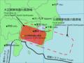 関東大震災の震源域図