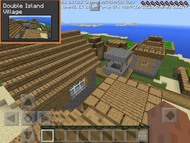 ダブル島の村を生成してみた