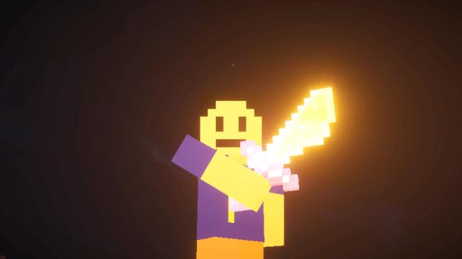 SEUSでガラスの剣を光らせてみた
