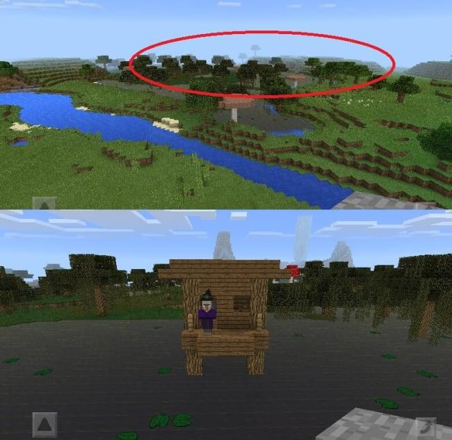 湿地の真ん中にぽつんとウィッチの小屋