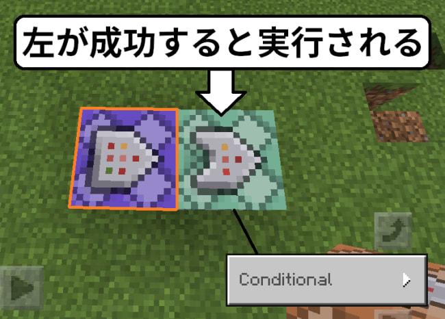 条件付きコマンドブロックの使い方