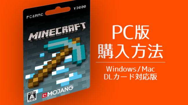 PC版Minecraftの購入方法DLカード対応版