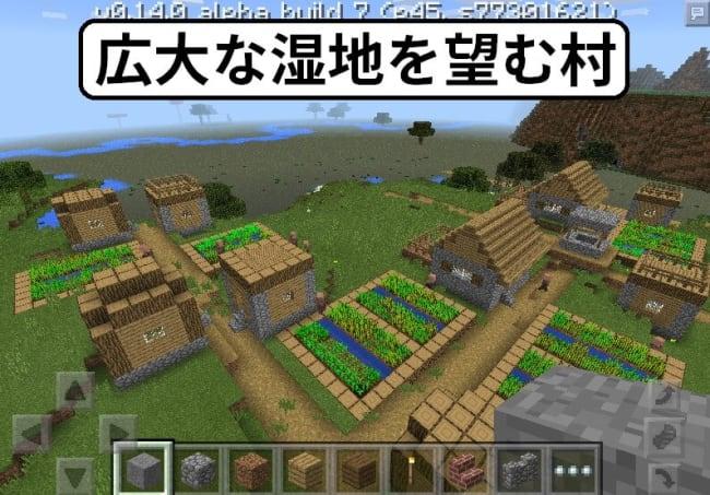 広大な湿地を望む村