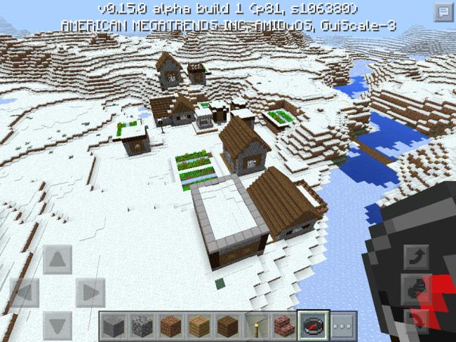 雪原バイオームの村