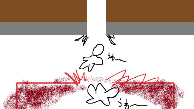 奈落からネザーに落ちるの図