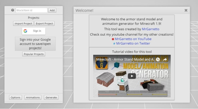 Armorstand Model / Animation Generator