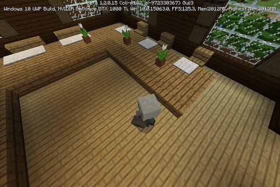 森の洋館の床