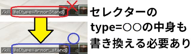 type引数の中身も書き換える必要あり