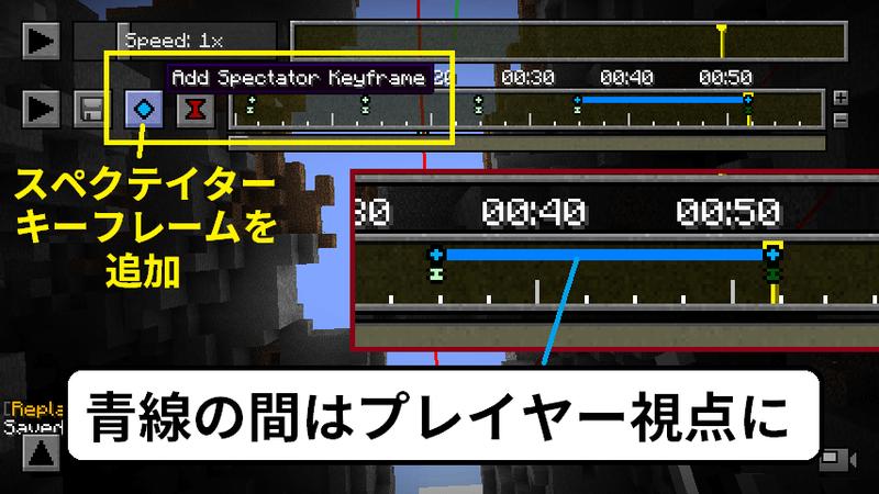 プレイヤー視点でのキーフレームの設置