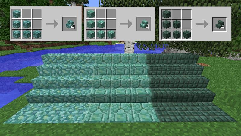 海底神殿の素材を使った階段