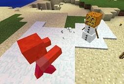 雪球を飛ばして戦うスノーゴーレム