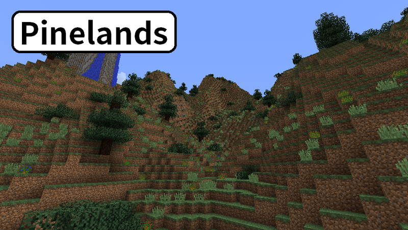 マツの木が生えた丘陵地Pinelands