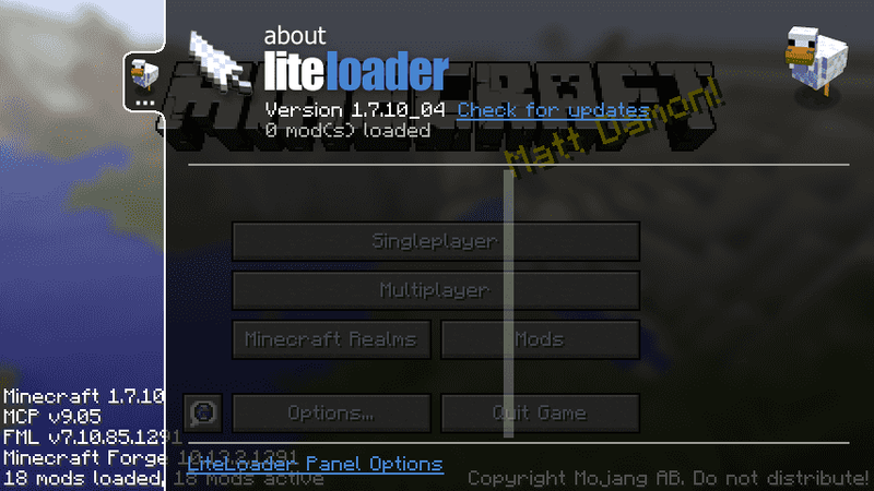 LiteLoader導入完了!
