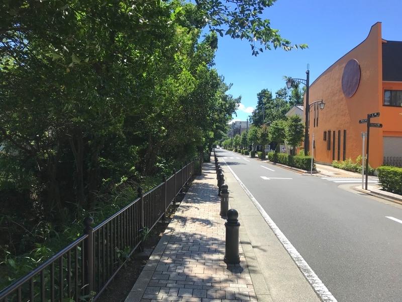 三鷹の森ジブリ美術館への道