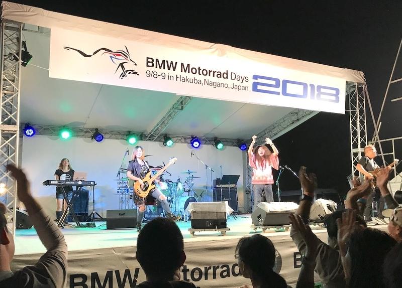 BMWモトラッドデイズのミュージックライブ