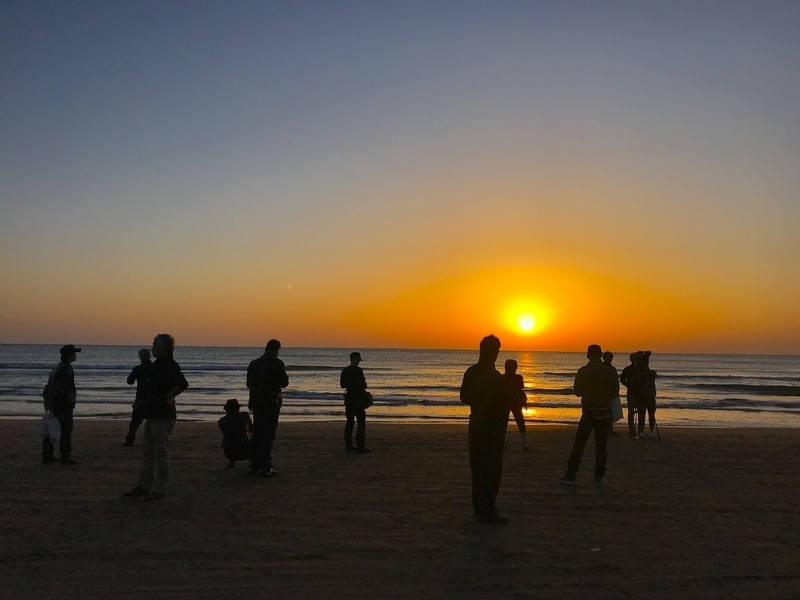 SSTRの千里浜の夕日