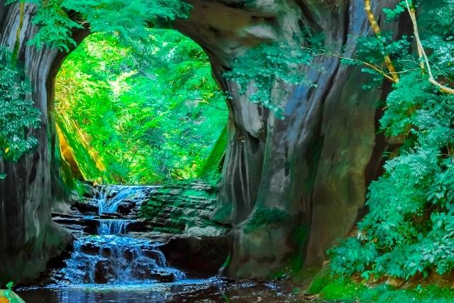 濃溝の滝の風景