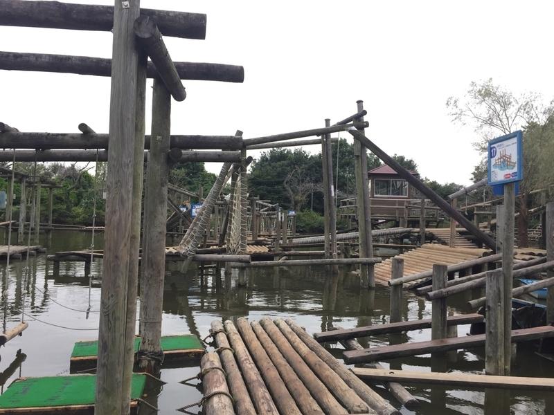 清水公園フィールドアスレチック 水上コース