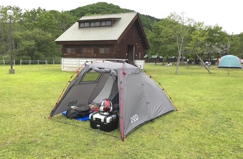 日本一周のキャンプ風景