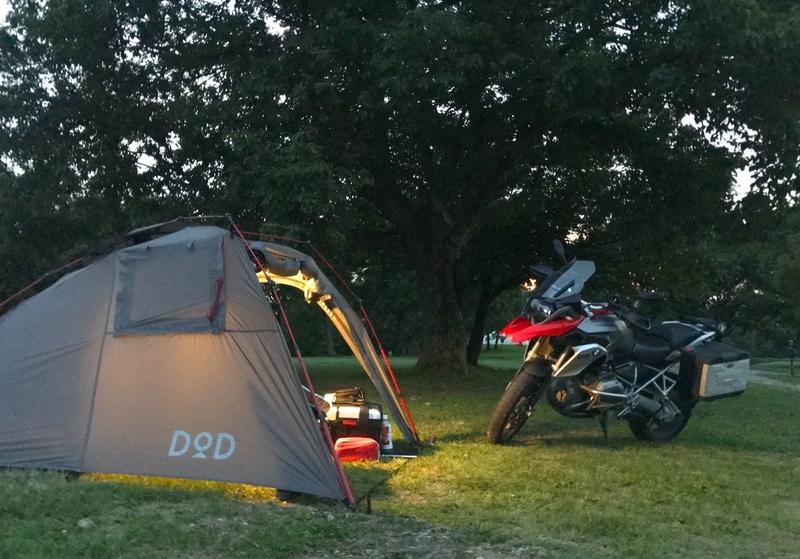 DODライダーズバイクインテントとバイク