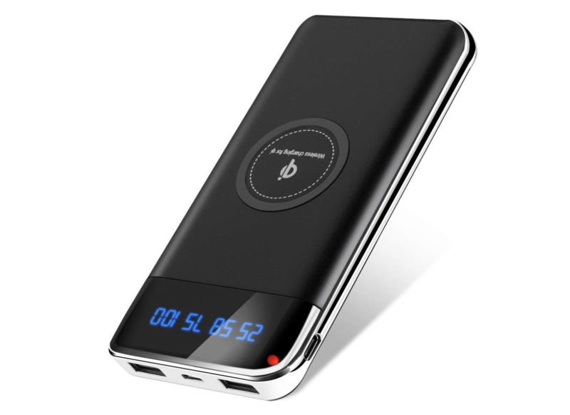 Delitoo モバイルバッテリー Qi ワイヤレス充電(1200mAh・2ポート+Qi対応)