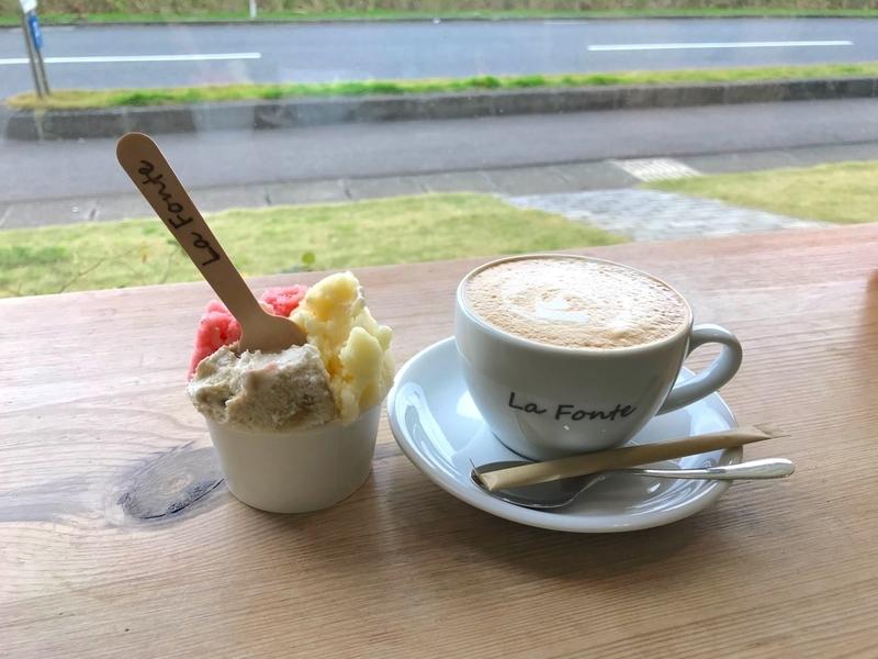La Fonte(ラフォンテ)のジェラートとコーヒー