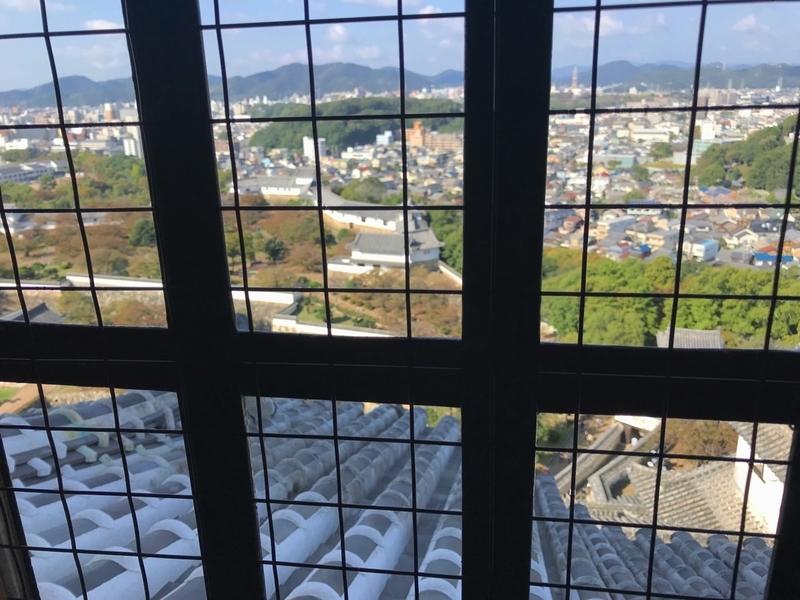 世界遺産 姫路城の最上階からの景色