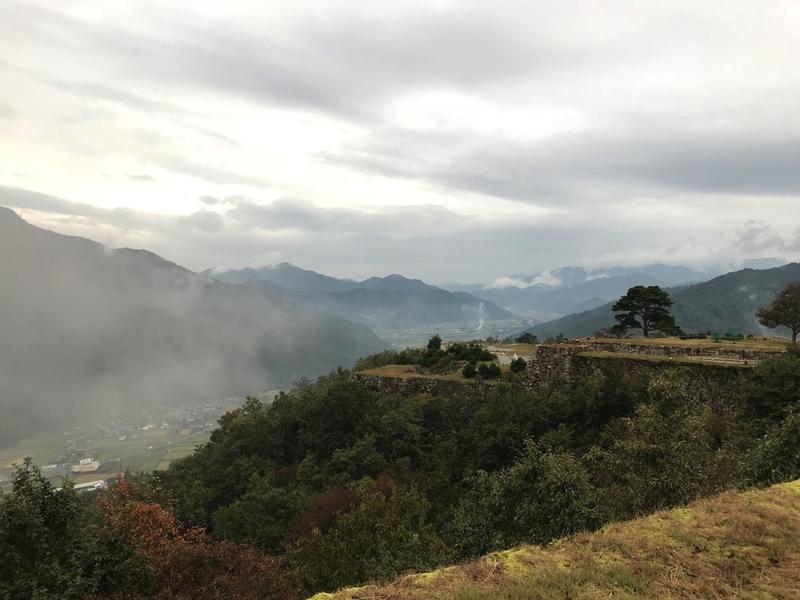 天空の城 竹田城の眺め