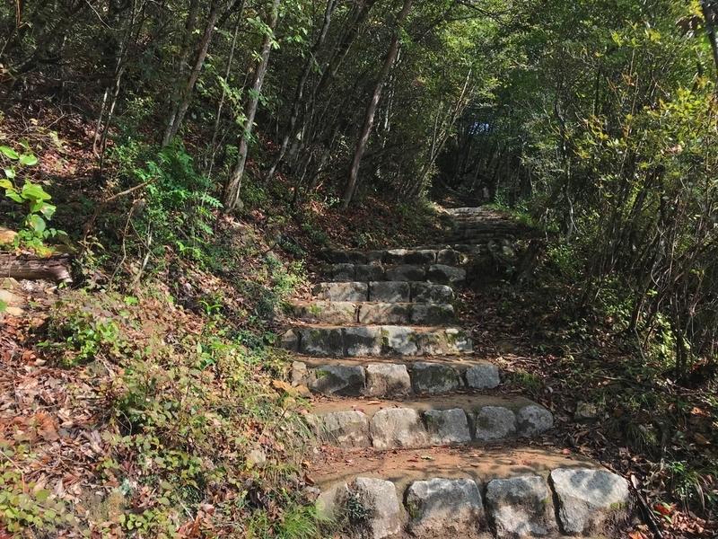 備中松山城の登山道