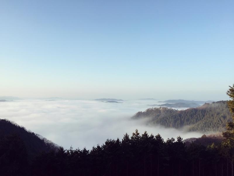 備中松山城の雲海の風景
