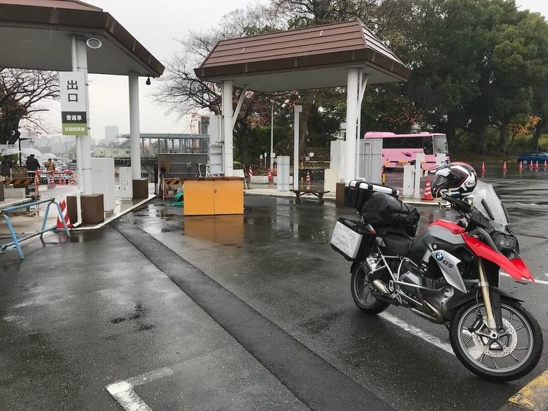 熊本城の二の丸駐車場