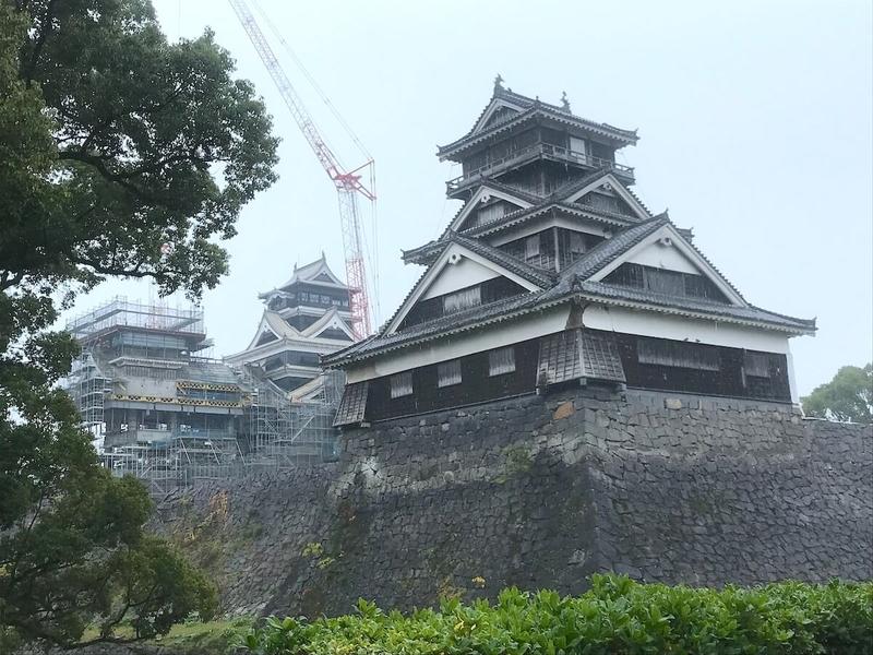 復旧作業中の熊本城