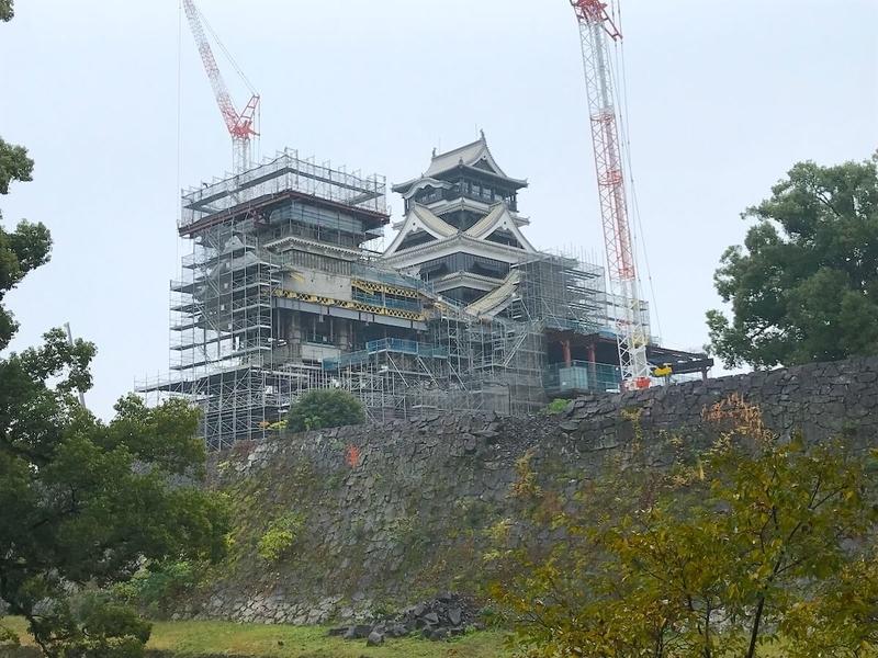 日本三名城「熊本城」の全景