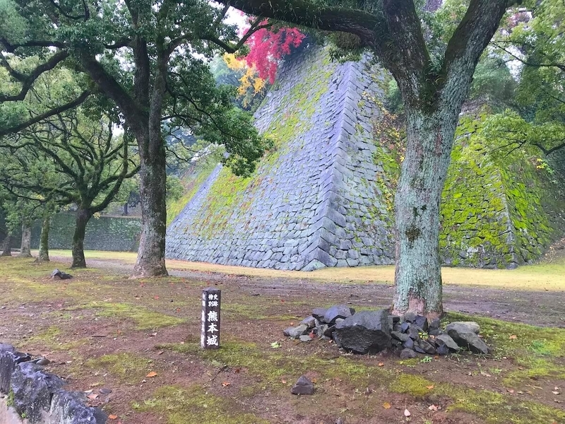 熊本城の外周の道