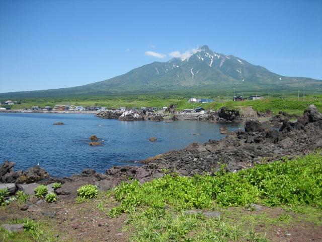 利尻島のある風景