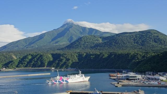 利尻島へのフェリー