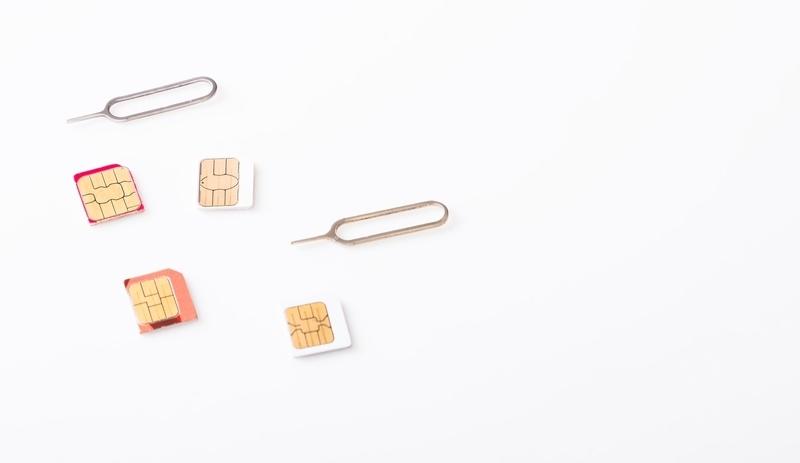 SIMカードの種類の違いについての画像