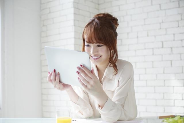自宅でWi-Fi専用タブレットを使うイメージ画像
